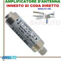 AMPLIFICATORE DIPOLO AD INNESTO DIRETTO, PER ANTENNA TERRESTRE VHF+UHF EMMESSE MOD. 81942LBL