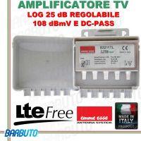 AMPLIFICATORE LOG 25 dB, 108 dBmV REGOLABILE CON FILTRO LTE EMMEESSE 83211TL