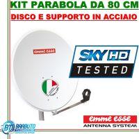 PARABOLA 80 CM IN ACCIAIO EMMEESSE COLORE BIANCO CON SUPPORTO IN ACCIAIO EMMESSE
