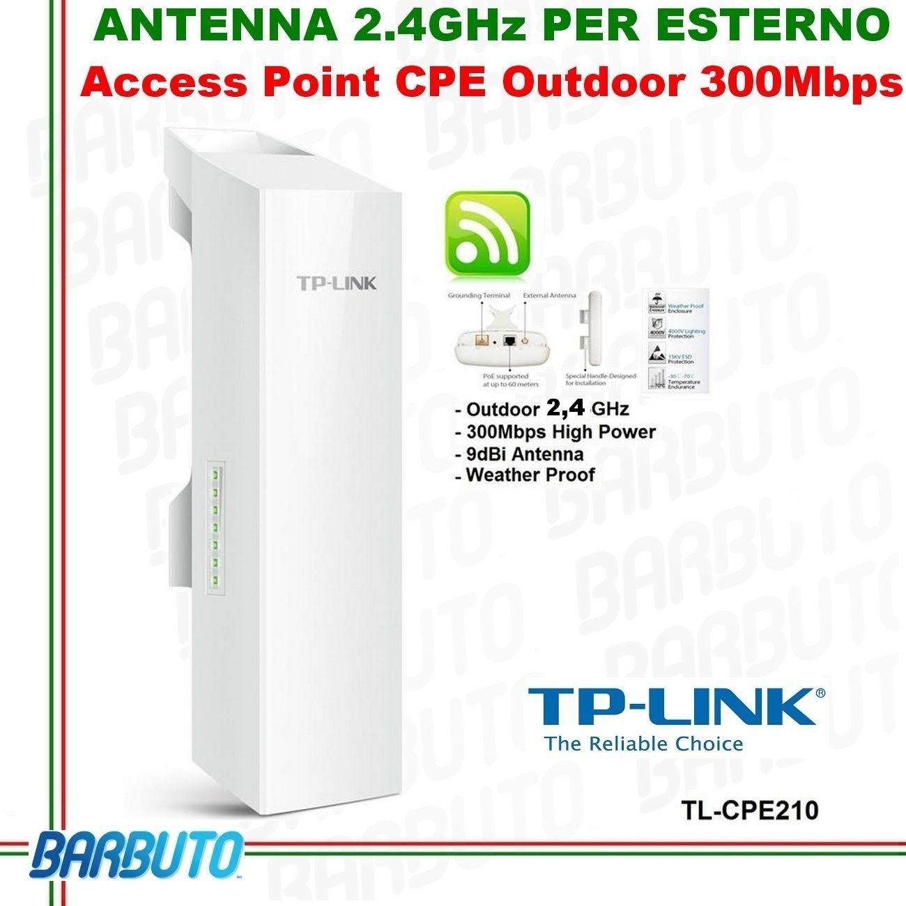 Antenna Wireless 24ghz Wlan Outdoor Esterno Interno Access Point Cpe210 Acces Wifi Tplink 300mbps 9dbi Cpe
