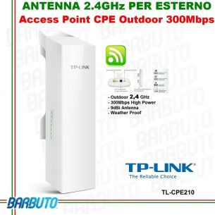 ANTENNA WIRELESS 2,4GHz WLAN OUTDOOR ESTERNO INTERNO ACCESS POINT CPE210