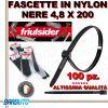 FASCETTA PER CABLAGGIO IN NYLON NERO 4,8 X 200mm FRIULSIDER (ALTISSIMA QUALITÀ)