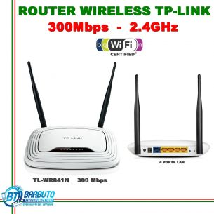 ROUTER WIRELESS N 300 LAN, IDEALE PER LINKEM, ACCESS POINT TL-WR841ND TP-LINK