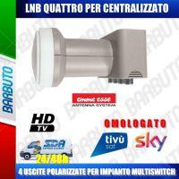LNB QUATTRO HV-HV UNIVERSALE 0,1 dB N.F. LTE EMMEESSE 80188KL