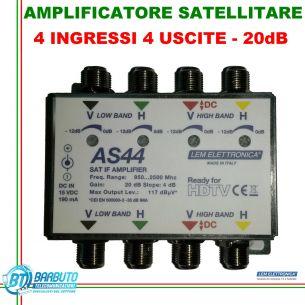 AMPLIFICATORE DI TESTA SAT 20dB REGOLABILE LEM ELETTRONICA MODELLO AS44