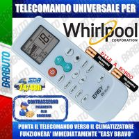TELECOMANDO UNIVERSALE PER CLIMATIZZATORI WHIRLPOOL (BATTERIE INCLUSE)