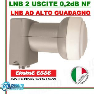 LNB 2 USCITE TWIN UNIVERSALE 0,1 dB N.F. SERIE XTRA LINE EMMEESSE