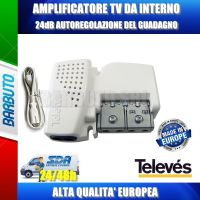 AMPLIFICATORE DA INTERNO 1 OUT AGC GUADAGNO AUTOREGOLABILE da 12 a 24 dB 560541 NV241PICOLTE