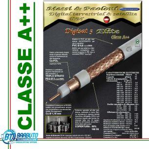 5 mt DI CAVO DIGISAT 5 ELITE Ø 6,8mm MESSI & PAOLONI CLASSE A++ TUTTO RAME!!!