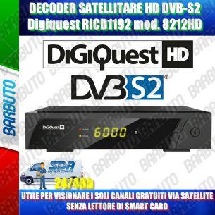 DECODER SATELLITARE HD DVB-S2 FREE TO AIR PER CANALI GRATUITI DIGIQUEST 8212HD