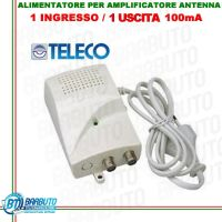 ALIMENTATORE PER AMPLIFICATORE DA PALO TV 1 OUT 12V 100mA CON LED-12101C TELECO