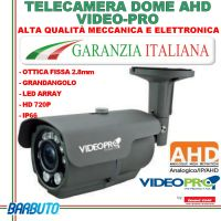 TELECAMERA BULLET AHD 720P - PIRANHA + ARRAY LED - VARIFOCALE 2,8-12mm - VIDEOPRO VP110H By EMMEESSE