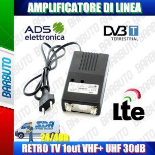 AMPLIFICATORE DI LINEA TV UHF 30db 1out MIGLIORA/POTENZIA IL SEGNALE TV AMS2/1U