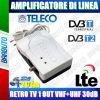 AMPLIFICATORE DI LINEA TV 30db 1 USCITA MIGLIORA IL SEGNALE TELECO TIAR1-2LTE/LB