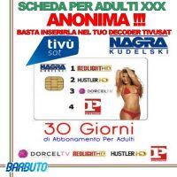 Abbonamento Tivusat prepagato per adulti 4 canali per 1 mesi (ABBONAMENTO XXX)