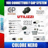 100 CONNETTORI A PRESSIONE CAPS CAP COLORE NERO ALTA QUALITA' TELECOM & SECURITY