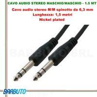 CAVO AUDIO STEREO JACK 6.3mm MASCHIO/MASCHIO - 1.5 mt