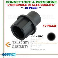 CONNETTORI A PRESSIONE CAPS NERO 10 PEZZI, CAP DI COLORE NERO, ALTA QUALITA' T&S