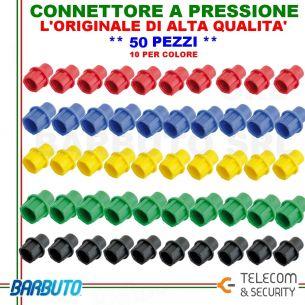 CONNETTORI A PRESSIONE CAPS 50 PEZZI, CAP VARIE COLORAZIONI, ALTA QUALITA' T&S