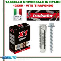 TASSELLO 12x60 X1 EVO CON VITE TIRAFONDO M8 DA 13