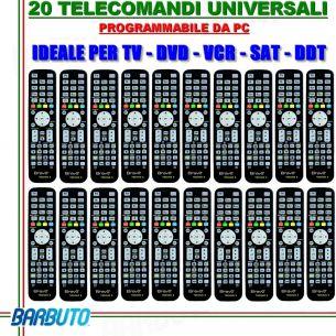 20 TELECOMANDI UNIVERSALI PROGRAMMABILI TRAMITE PC, OTTIMI PER HOTEL B&B ECC.