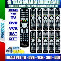 10 TELECOMANDI UNIVERSALI PER APPARECCHI DI TUTTE LE MARCHE