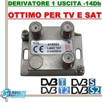 DERIVATORE 1 USCITA -14dB CONNETT. F IN PRESSOFUSIONE SIMILE AL FRACARRO DE1-14