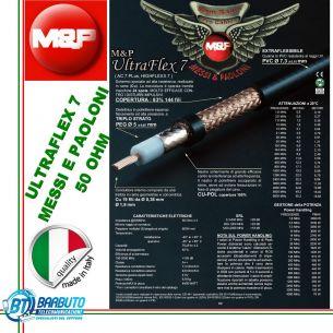 MESSI e PAOLONI ULTRAFLEX 7 CAVO COASSIALE A BASSA PERDITA 7,3mm (come rg58)
