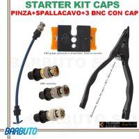 STARTER KIT CAP - PINZA + SPALLACAVO + 3 CONNETTORI TEST BNC + 3 CAP