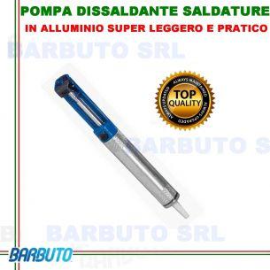 POMPA DISSALDANTE X SALDATURA STAGNO,IN ALLUMINIO-PROFESSIONALE-PRATICO-LEGGERO