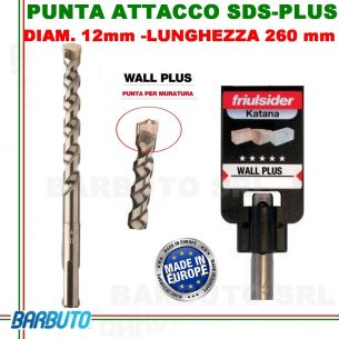 PUNTA DA 12mm - LUNG.260mm, PER MURATURA ATTACCO SDS-PLUS friulsider WALL PLUS