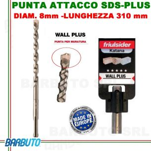 PUNTA DA 8 mm - LUNG.310mm, PER MURATURA ATTACCO SDS-PLUS friulsider WALL PLUS