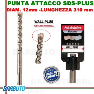 PUNTA DA 12mm - LUNG.310mm, PER MURATURA ATTACCO SDS-PLUS FRIULSIDER WALL PLUS