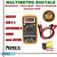 TESTER MULTIMETRO PORTATILE DIGITALE CON DISPLAY LCD 3½ mod. NI2100