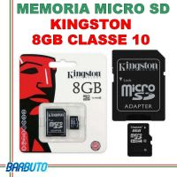 MEMORIA SECURE DIGITAL MICRO SD KINGSTON 8GB CLASSE 10