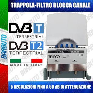 TRAPPOLA FILTRO ELIMINA CANALE A 5 CELLE REGOLABILE TELECO TET5/K