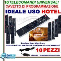 10 TELECOMANDI UNIVERSALI + PROGRAMMATORE PER CODICI, IDEALE PER HOTEL, B&B
