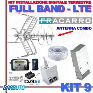 KIT 9 EVO FRACARRO DIGITALE TERRESTRE FULL BAND FILTRO LTE + PUNTATORE + CAVO 50mt
