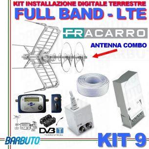 KIT 9 EVO FRACARRO DIGITALE TERRESTRE FULL BAND FILTRO LTE + PUNTATORE + CAVO 50mt