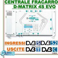 CENTRALINO TRASMODULATORE TV/SAT FRACARRO D-MATRIX S4 EVO