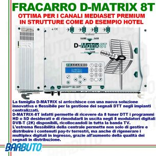 FRACARRO D-MATRIX 8T CENTRALINO TV PER GESTIONE TRANSPONDER E CANALI DVBT