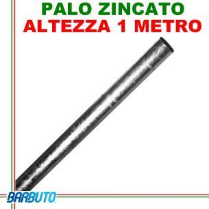 PALO ZINCATO ALTEZZA 1 METRO DIAMETRO 40 mm RINFORZATO, IDEALE PER PARABOLE