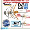 ANTENNA TV TELEVES 149302 COMBO VHF + UHF CON TAGLIO LTE FINE BANDA REGOLABILE