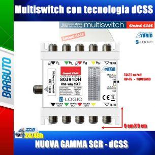 MULTISWITCH IBRIDO SCR - dCSS - LEGACY - WIDEBAND - 5 CAVI / 1 DERIVATA 16 PORTE ART. 80391DH EMMESSE