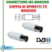 COPPIA DI SPINOTTI TV MASCHIO DRITTO COASSIALE