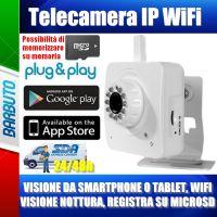 Telecamera WiFi Videosorveglianza DProgress DPLYNX Foto, Video, App x Smartphone