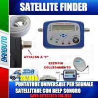 "PUNTATORE / MISURATORE CAMPO / SAT FINDER DVB-S DIGITSAT ""PER PUNTARE LA TUA PARABOLA"""