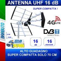 ANTENNA DIGITALE TERRESTRE ANTI LTE - UHF - GUADAGNO 16dB - RESISTENTE AL VENTO