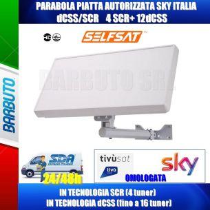 ANTENNA SATELLITARE PIATTA CON LNB dCSS/SCR 16 UB,H21DCSS AUTORIZZATO SKY ITALIA