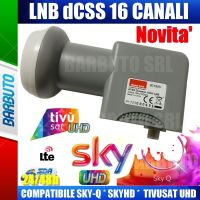 ILLUMINATORE LNB dCSS/QUAD SCR 16 CANALI,COMPATIBILE SKY-Q, 4K,TIVUSAT - EMMESSE 80190S